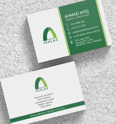 Name Card Takaful Ikhlas IKHLAS204   One Heart Print