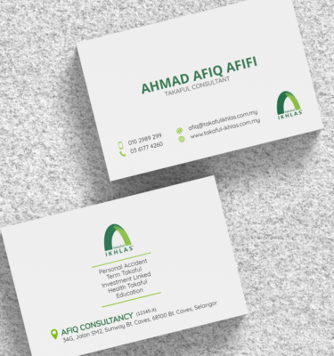 Name Card Takaful Ikhlas IKHLAS206   One Heart Print