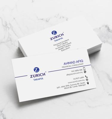 Name Card Takaful Zurich ZUR201   One Heart Print