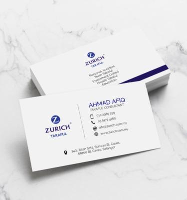 Name Card Takaful Zurich ZUR203   One Heart Print