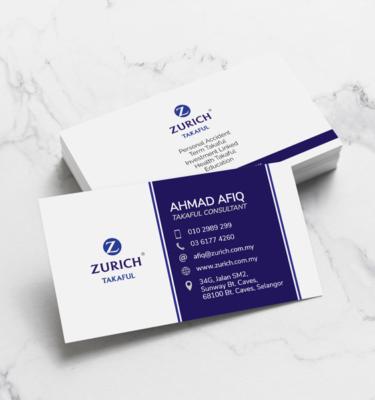 Name Card Takaful Zurich ZUR204   One Heart Print
