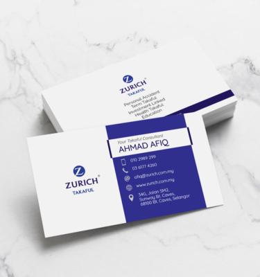 Name Card Takaful Zurich ZUR205   One Heart Print