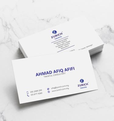 Name Card Takaful Zurich ZUR206   One Heart Print