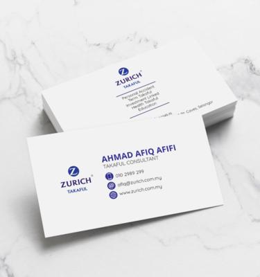 Name Card Takaful Zurich ZUR207   One Heart Print
