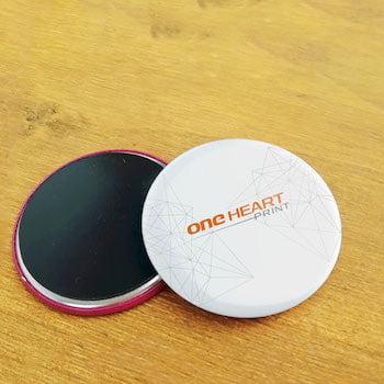 Fridge Magnet Button Badge   One Heart Print