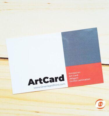 Print Online Business Card Art Card Gloss   One Heart Print
