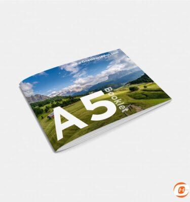 Booklet A5 Landscape Print Online Digital | One Heart Print