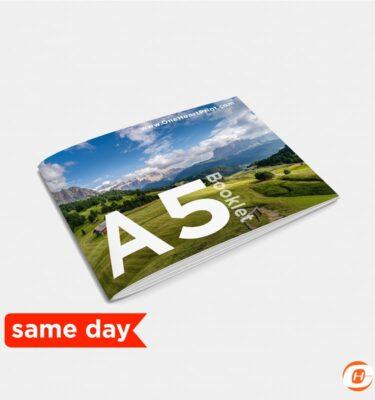 Booklet A5 Landscape Print Online Same Day Digital | One Heart Print